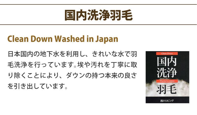 日本製肌掛けダウンケット 西川リビング