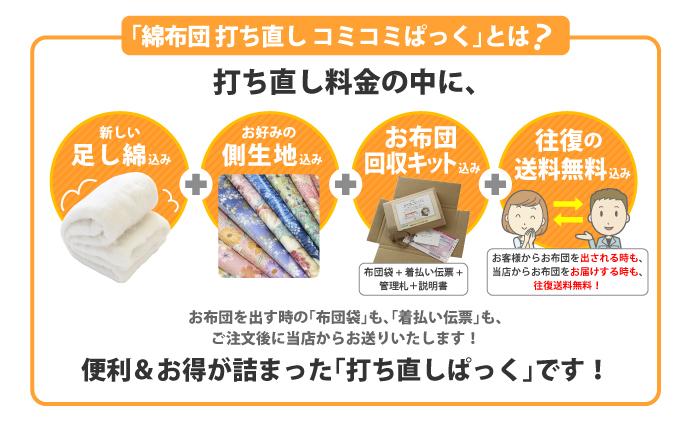綿布団打ち直しのパック内容(料金・価格)