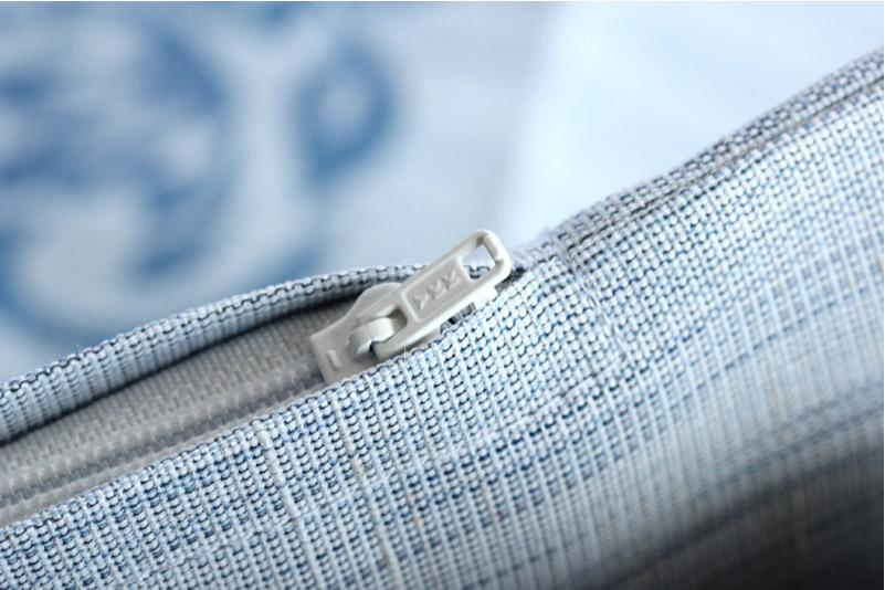 甲州織 夏用座布団カバー 八端判 麻混素材