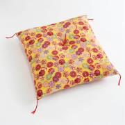 職人手作り座布団、インド綿シードコットンを100%、ちりめん生地 小手鞠